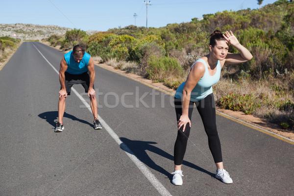 спортивный пару перерыва бег открытых Сток-фото © wavebreak_media
