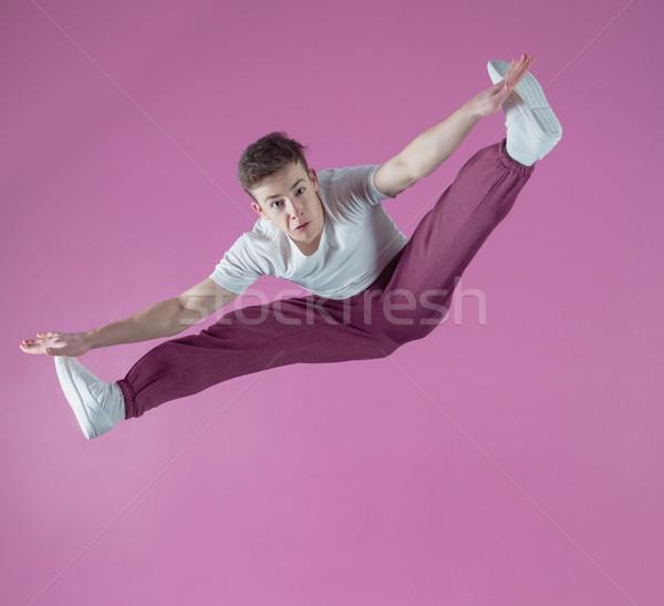 Stok fotoğraf: Serin · kırmak · dansçı · hava · dans · stüdyo
