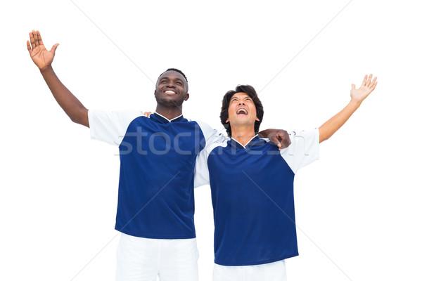 Fútbol jugadores ganar blanco feliz Foto stock © wavebreak_media