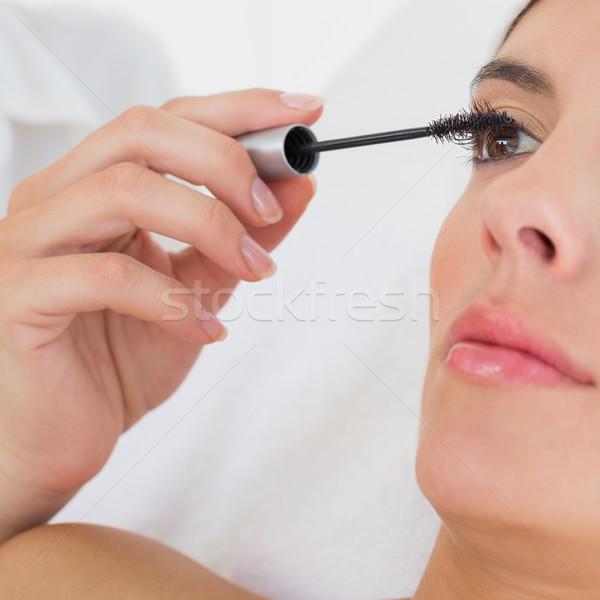 Hand mascara mooie vrouw vrouw Stockfoto © wavebreak_media