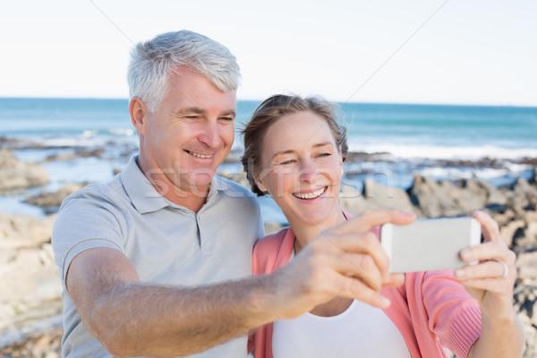 Boldog lezser pár elvesz part napos idő Stock fotó © wavebreak_media