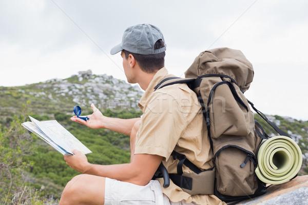 походов человека карта горные местность вид сбоку Сток-фото © wavebreak_media