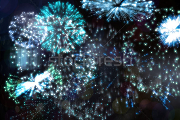 Colorido fogos de artifício preto digitalmente gerado Foto stock © wavebreak_media