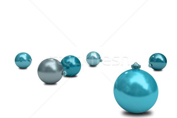 Digitalmente gerado azul natal digital Foto stock © wavebreak_media