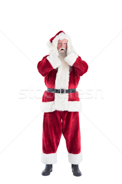 Santa is shocked to camera Stock photo © wavebreak_media