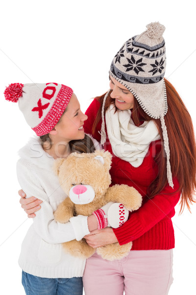 Anne kız oyuncak ayı beyaz kız Stok fotoğraf © wavebreak_media