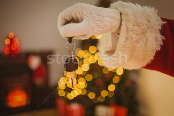 手 父 クリスマス 車のキー ホーム ストックフォト © wavebreak_media