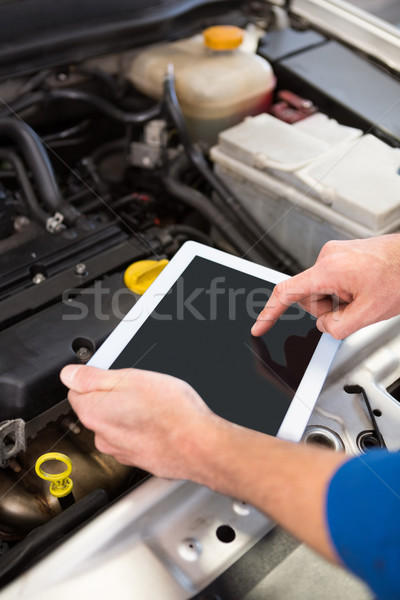 Mechaniker Tablet Auto Autoreparatur Garage Service Stock foto © wavebreak_media