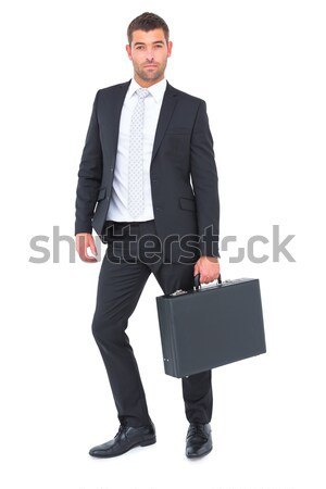 Zakenman permanente aktetas witte business man Stockfoto © wavebreak_media