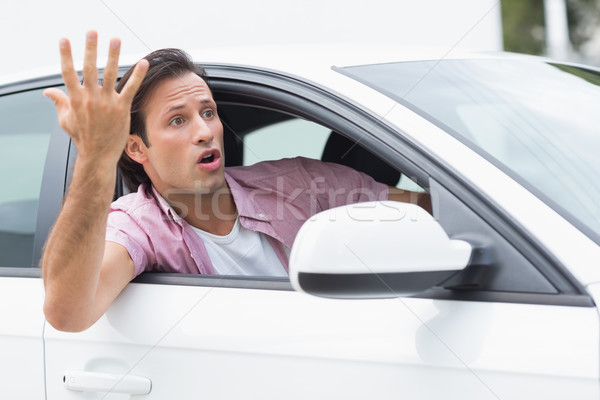 Young man experiencing road rage Stock photo © wavebreak_media