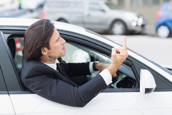бизнесмен дороги ярость автомобилей человека корпоративного Сток-фото © wavebreak_media