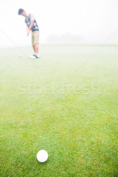 Jogador de golfe campo de golfe nuvens esportes Foto stock © wavebreak_media