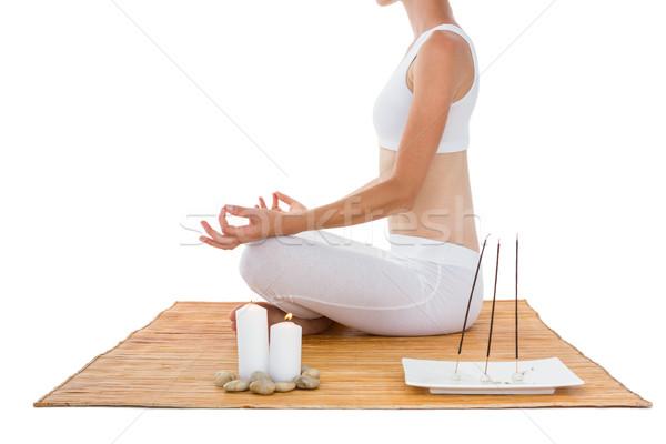Dopasować kobieta bambusa fitness zdrowia Zdjęcia stock © wavebreak_media