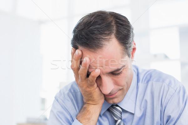 Frustrado empresario de trabajo oficina trabajo de oficina hombre Foto stock © wavebreak_media