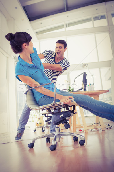 Two young business colleagues having fun Stock photo © wavebreak_media