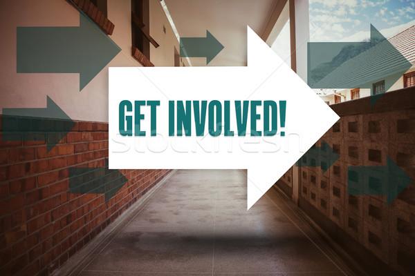 Get involved! against empty hallway Stock photo © wavebreak_media