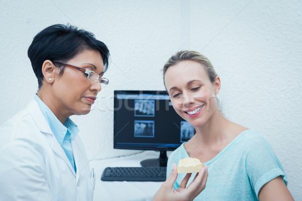 Dişçi kadın protez dişler kadın Stok fotoğraf © wavebreak_media