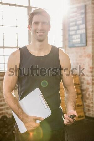позируют спортивная одежда белый фитнес портрет Сток-фото © wavebreak_media