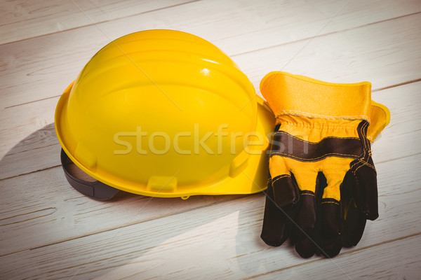 Hard hat and protective gloves Stock photo © wavebreak_media