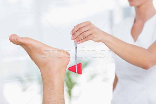 Reflex hamer medische kantoor vrouw vrouwelijke Stockfoto © wavebreak_media