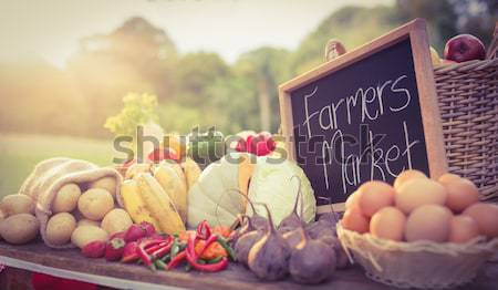 Imagem legumes agricultores mercado Foto stock © wavebreak_media