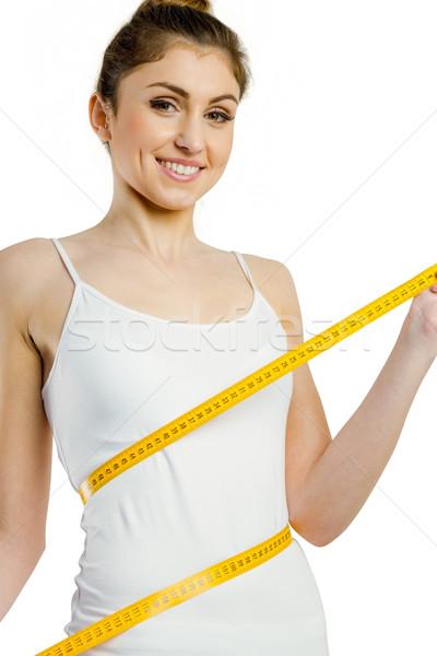 Schlank Frau Taille weiß weiblichen Stock foto © wavebreak_media