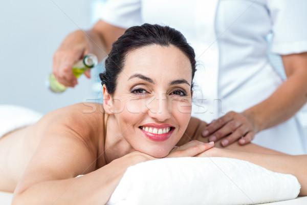 Donna sorridente aromaterapia trattamento sani spa donna Foto d'archivio © wavebreak_media