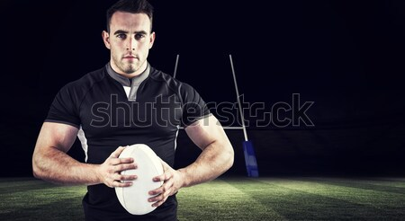 Rugby jugador pelota de rugby retrato deporte Foto stock © wavebreak_media