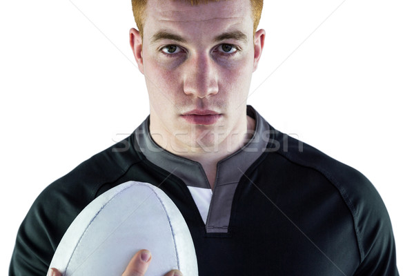 Rugby jugador pelota de rugby retrato grave Foto stock © wavebreak_media