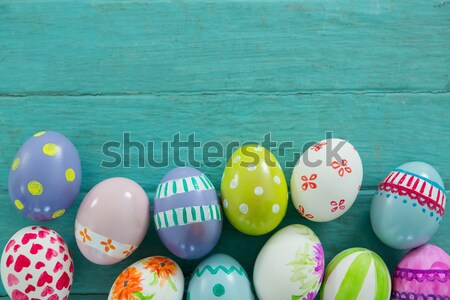 Azul rosa tipo ovos de páscoa tabela composição digital Foto stock © wavebreak_media