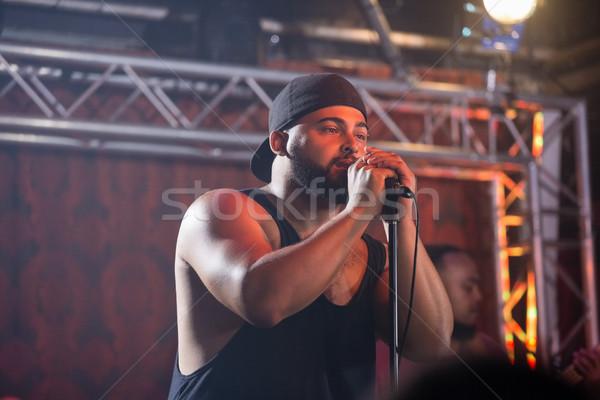 Сток-фото: певицы · этап · ночном · клубе · музыку · микрофона