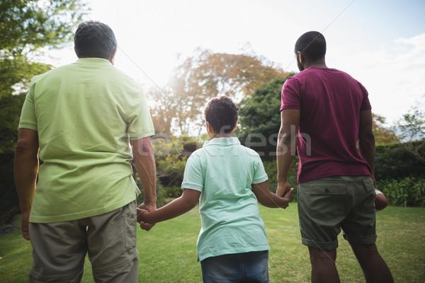 Multi generation family standing at park Stock photo © wavebreak_media