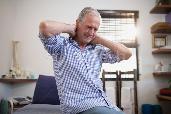 Alulról fotózva kilátás idős férfi beteg ül Stock fotó © wavebreak_media