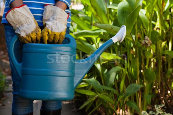 シニア 女性 立って じょうろ 植物 ストックフォト © wavebreak_media