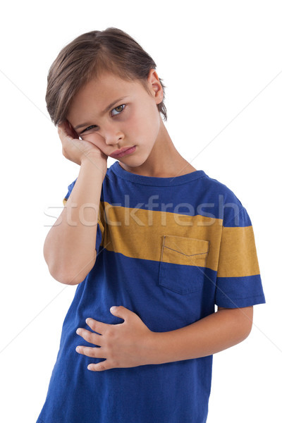 Aranyos fiú gyomor fájdalom fehér gyermek Stock fotó © wavebreak_media