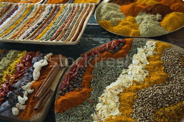 Baharatlar tepsi renk pişirme Stok fotoğraf © wavebreak_media