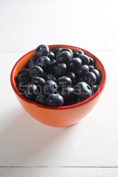 Blueberries in bowl on table Stock photo © wavebreak_media
