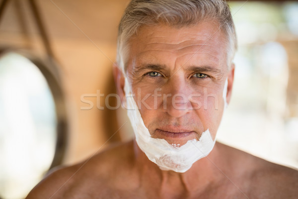 портрет человека кремом лице Safari отпуск Сток-фото © wavebreak_media