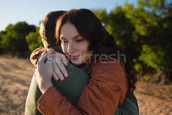 Paar veld vrouw liefde Stockfoto © wavebreak_media