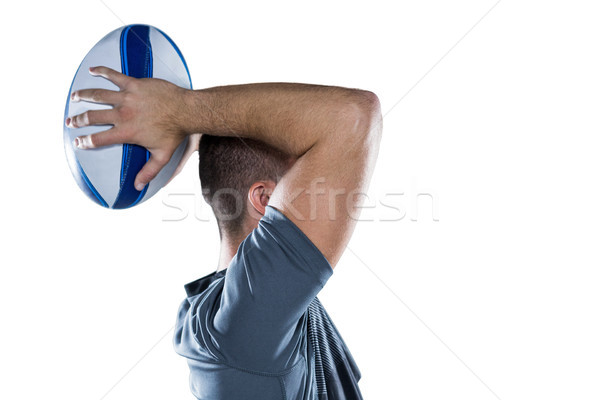 Rugby player throwing ball Stock photo © wavebreak_media