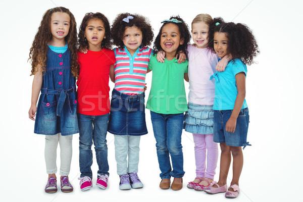 Mała grupa dzieci stałego wraz biały szczęśliwy Zdjęcia stock © wavebreak_media