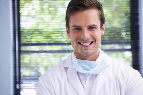 Portré mosolyog orvos fogászati klinika férfi Stock fotó © wavebreak_media