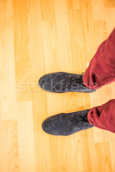Above view of a man with black shoes Stock photo © wavebreak_media