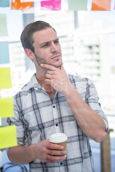 человека кофе служба счастливым Сток-фото © wavebreak_media