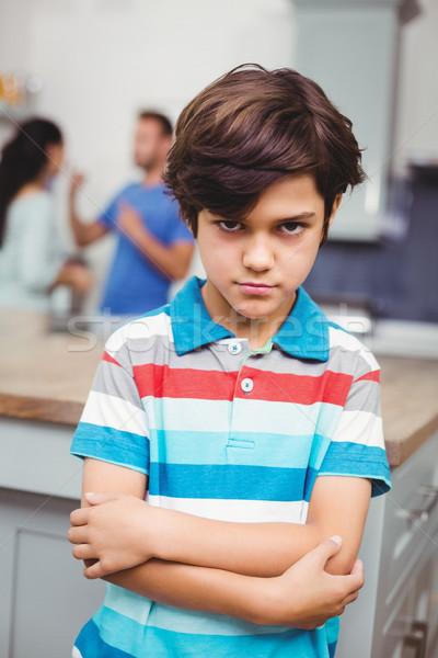 Retrato zangado filho em pé casa Foto stock © wavebreak_media