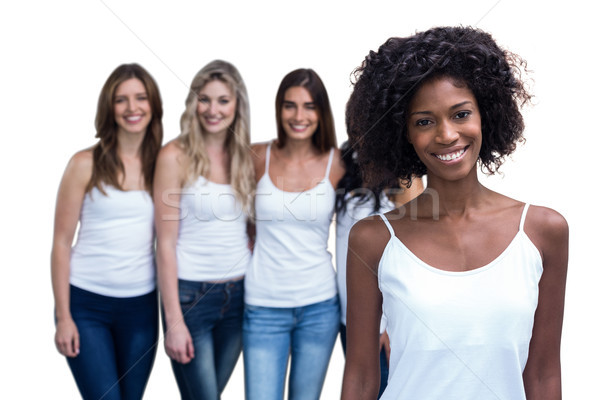 Portrait of curly woman and multiethnic women  Stock photo © wavebreak_media