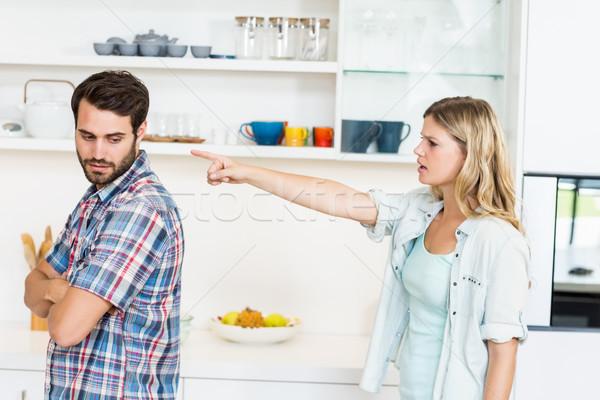 аргумент кухне женщину домой сердиться Сток-фото © wavebreak_media