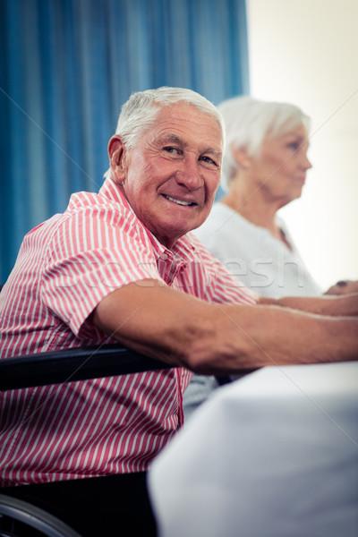 Pensioners at lunch Stock photo © wavebreak_media