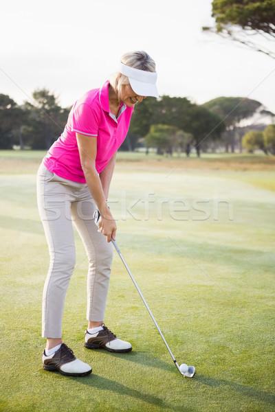 женщину гольфист выстрел области спорт зеленый Сток-фото © wavebreak_media