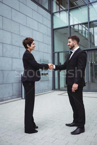Businesspeople shaking hands Stock photo © wavebreak_media